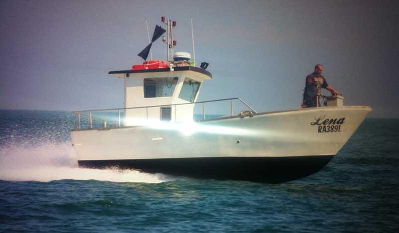 Barca destinata alla piccola pesca lena