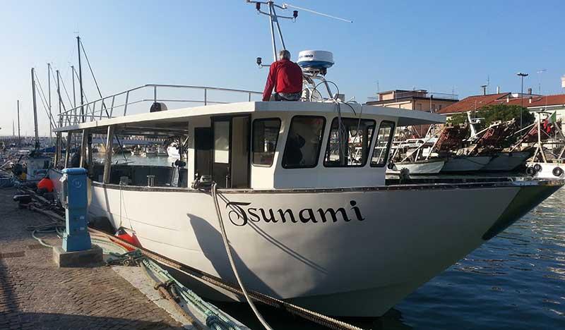 imbarcazione tsunami mitili